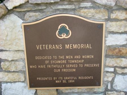 Veterans Memorial Plaque