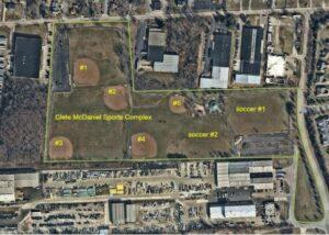 Aerial McDaniel Park Fields