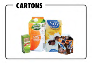 Cartons which may be recycled