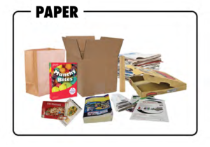 Paper items which may be recycled