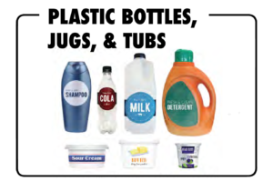 Plastic items which may be recycled