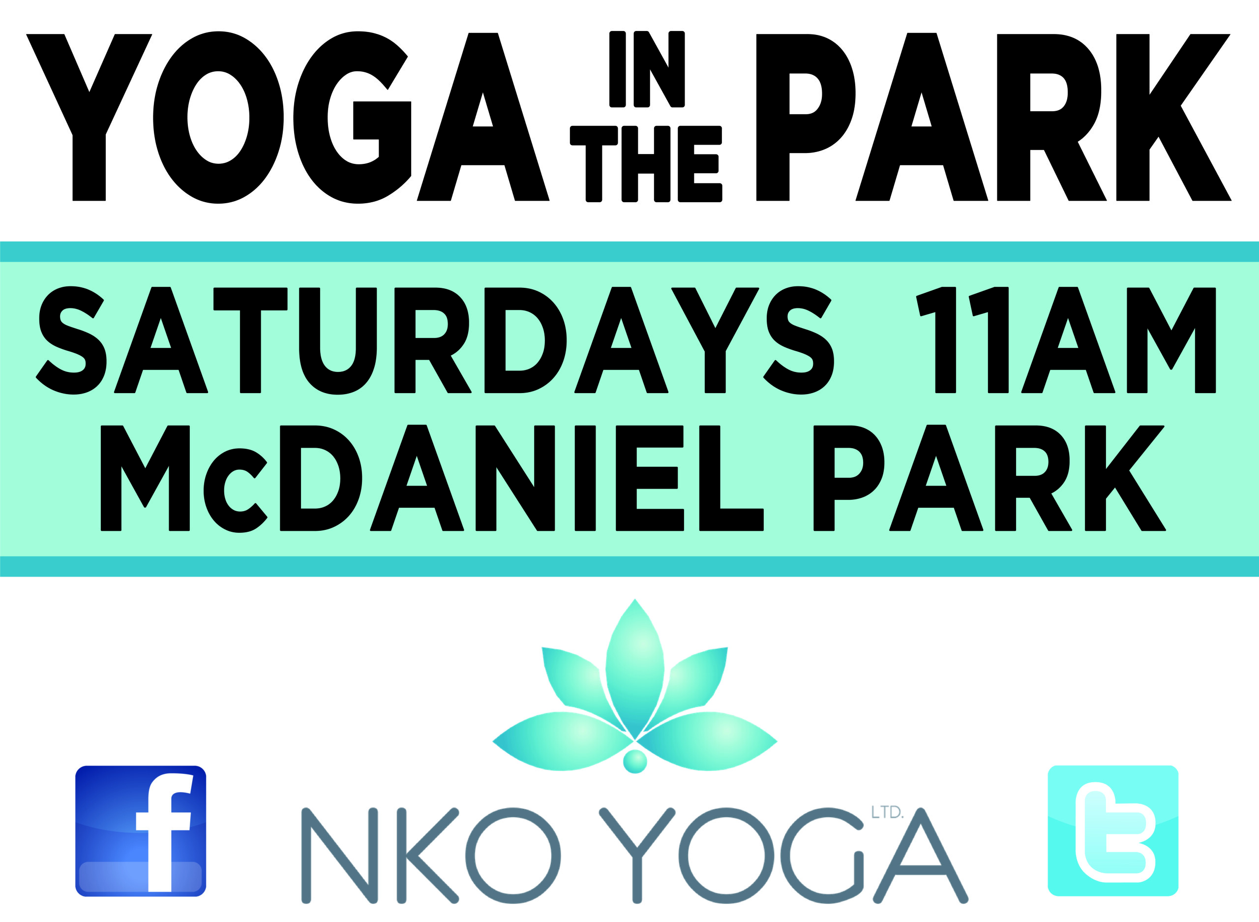 Yoga in the Park Sign