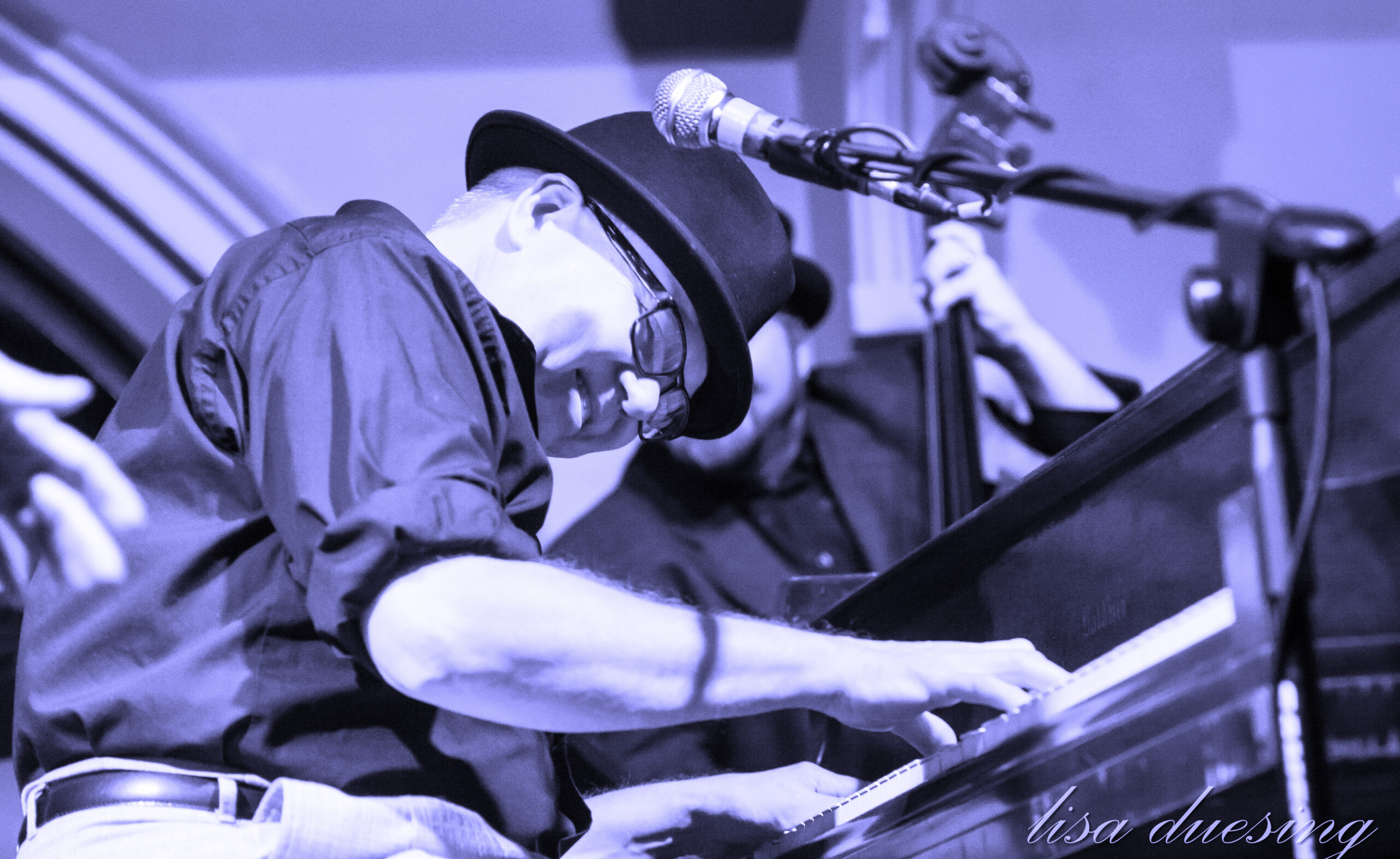 Ricky Nye playing piano