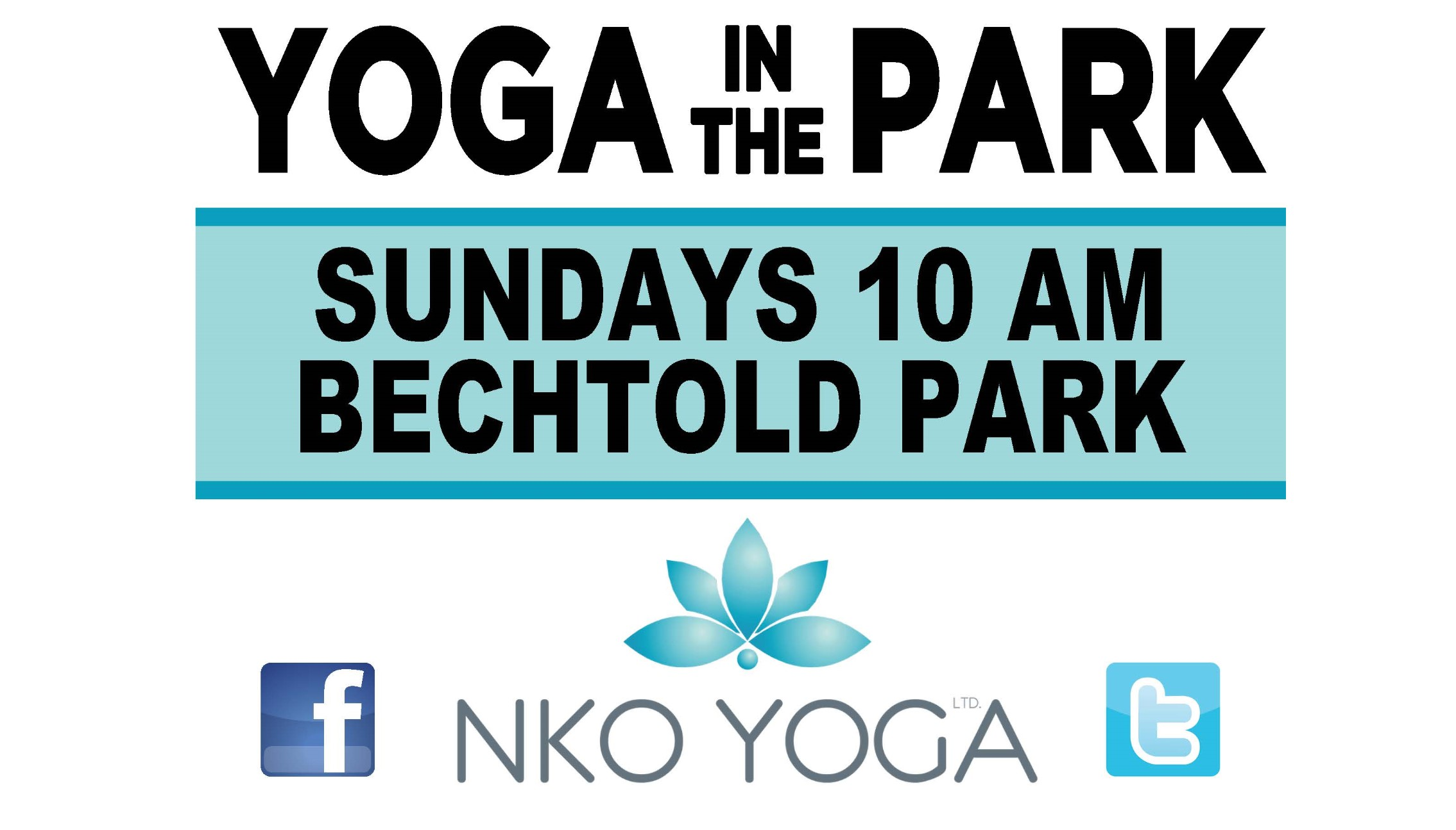 Yoga in the Park Bechtold Park sign