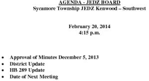 Icon of Agenda JEDZ Southwest Board 02 20 14