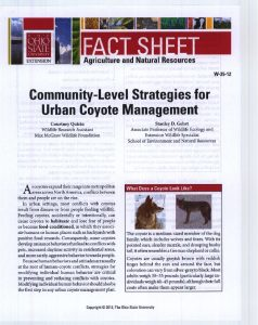 Icon of Community-Level Strategies For Urban Coyote Management