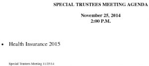 Icon of Special Trustee Meeting Agenda 11 25 2014
