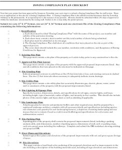 Icon of Zoning Compliance Plan Checklist 04 19 19