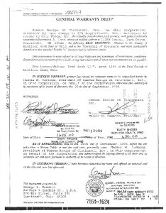 General Warranty Deed | General Warranty Deed Sycamore Township
