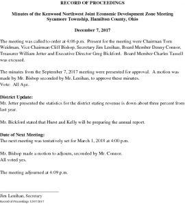Icon of RECORD OF PROCEEDINGS JEDZ Northwest 12-07-17