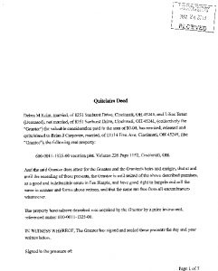 Icon of Quit Claim Deed 600-0011-1325-00