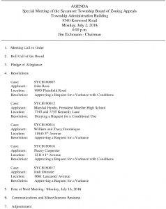 Icon of 07-02-18 Special Meeting Agenda