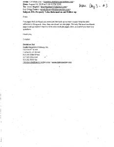 Icon of Mara Day 3 - Exhibit 3 -  Email-Christian Dial-Tracy Hughes