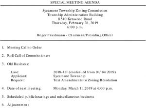 Icon of 02-28-2019 Special Zoning Commission Meeting Agenda