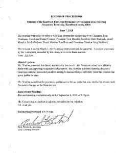 Icon of Record Of Proceedings JEDZ East 06-07-18