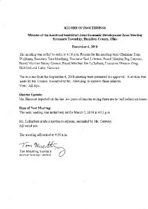 Icon of Record Of Proceedings JEDZ Southwest 12-06-18
