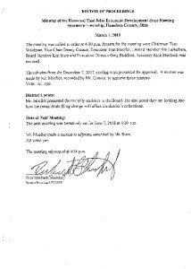 Icon of Record Of Proceedings JEDZ East 03-01-18