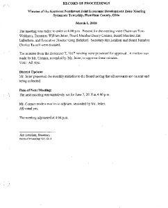 Icon of Record Of Proceedings JEDZ Northwest 03-01-18