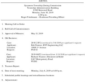 Icon of 06-10-2019 Zoning Commission Agenda