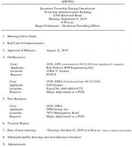 Icon of 09-09-2019 Zoning Commission Agenda