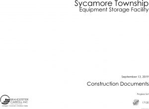 Icon of Sycamore Twp Maintenance Storage Facility Construction Plans