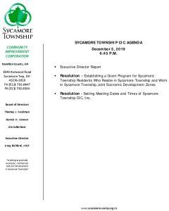 Icon of CIC Meeting Agenda 12 05 19
