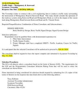 Icon of Traffic Study Kenwood Montgomery RFQ