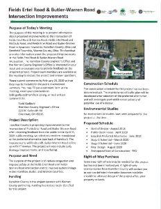Icon of Fields Ertel Road & Butler Warren Road Intersection Improvements
