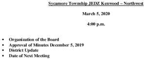 Icon of Agenda JEDZ Boards 03 05 20