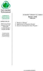 Icon of CIC Meeting Agenda 03 05 2020