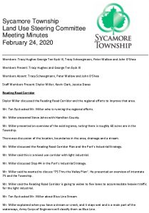 Icon of LUSC Meeting Minutes 2-24-2020