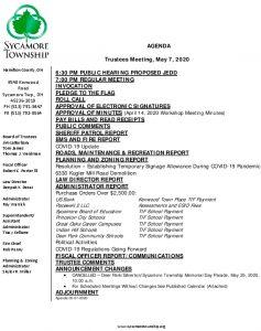 Icon of Trustee Agenda 05 07 2020