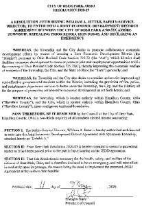Icon of City Of Deer Park Resolution 2020-19
