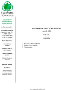 Icon of CIC Meeting Agenda 06 04 2020