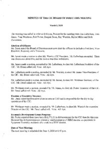 Icon of CIC Meeting Minutes 03 05 2020
