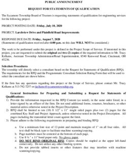 Icon of Request For Statements Of Qualifications Larchview Plainfield Project