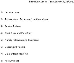 Icon of 07 23 2020 Finance Committee Agenda