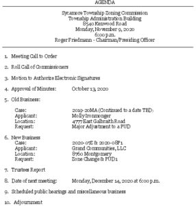 Icon of 11-09-2020 Zoning Commission Agenda
