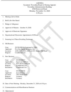 Icon of 11-16-20 BZA Meeting Agenda