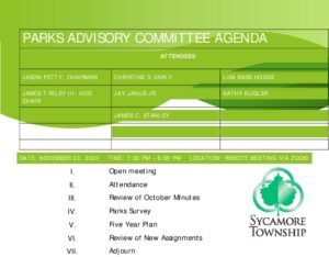 Icon of 11 23 2020 Parks Advisory Committee Agenda