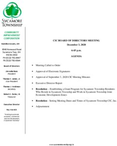 Icon of CIC Meeting Agenda 12 03 2020