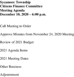 Icon of 12 10 2020 Finance Committee Agenda