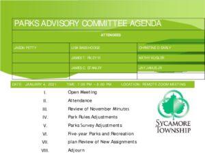 Icon of 01 04 2021 Parks Advisory Committee Agenda