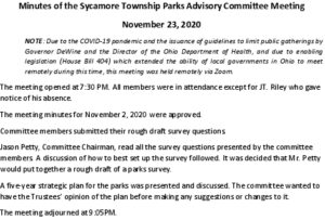 Icon of 11 23 2020 Parks Advisory Committee Meeting Minutes