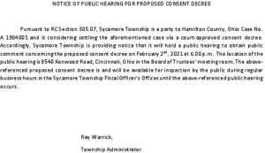 Icon of 02-02-21 Notice For Public Hearing Of Proposed Consent Decree