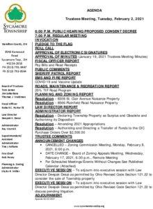 Icon of Trustee Meeting Agenda 02 02 2021