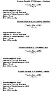 Icon of Agenda JEDZ Board Meetings 03 02 21