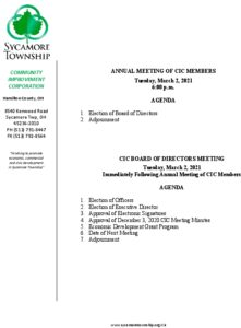 Icon of CIC Meeting Agenda 03 02 2021