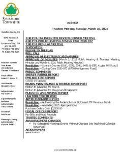 Icon of Trustee Meeting Agenda 03 16 2021