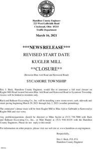 Icon of Kugler Mill Road Closure 3